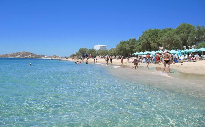 Agia Anna Beach On Naxos Island Greece