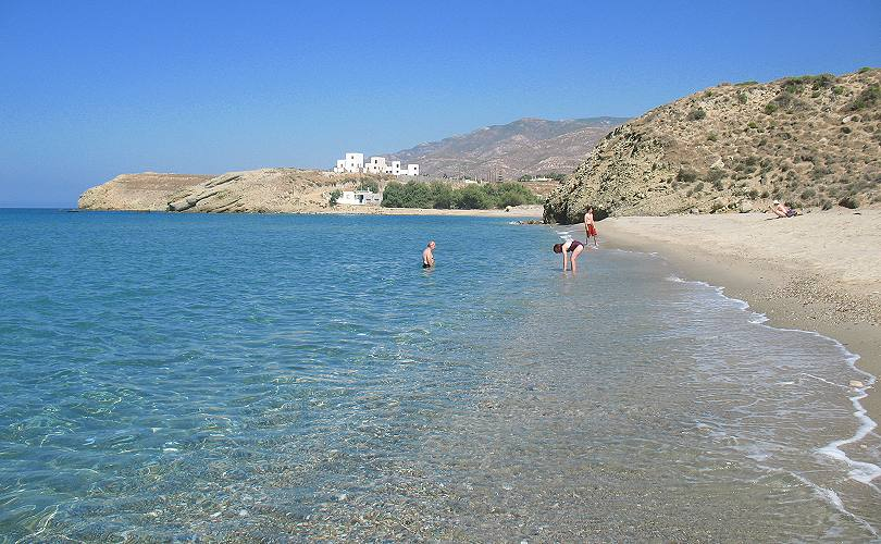 Amitis Beach In Naxos  Galini And Eggares Villages