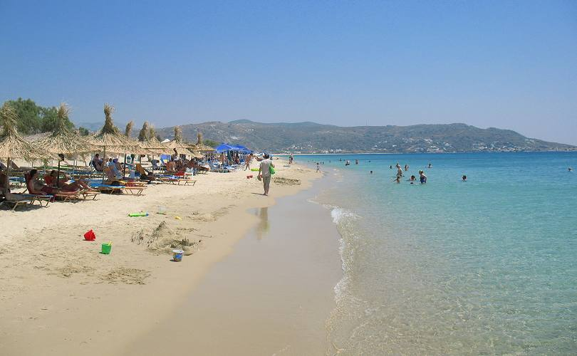 Plaka Beach On Naxos Island Greece